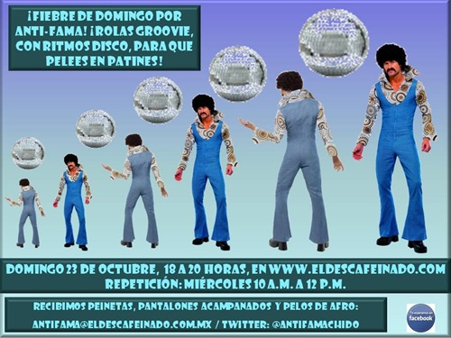 Flyer Fiebre de Domingo por Anti-Fama 23-10-11