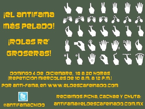 Flyer ANTI FAMA Rolas Groseras  04-12-11