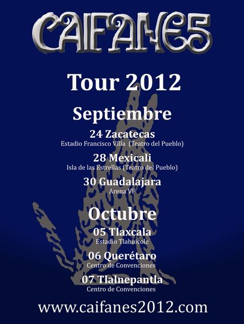 Caifanes Tour 2012: 30 de septiembre Arena VFG