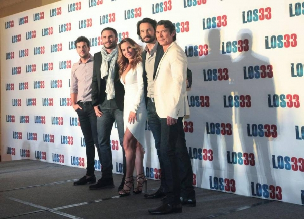 Los actores Mario Casas, Juan Pablo Raba, Kate del Castillo, Rodrigo Santoro, Lou Diamond Phillips.